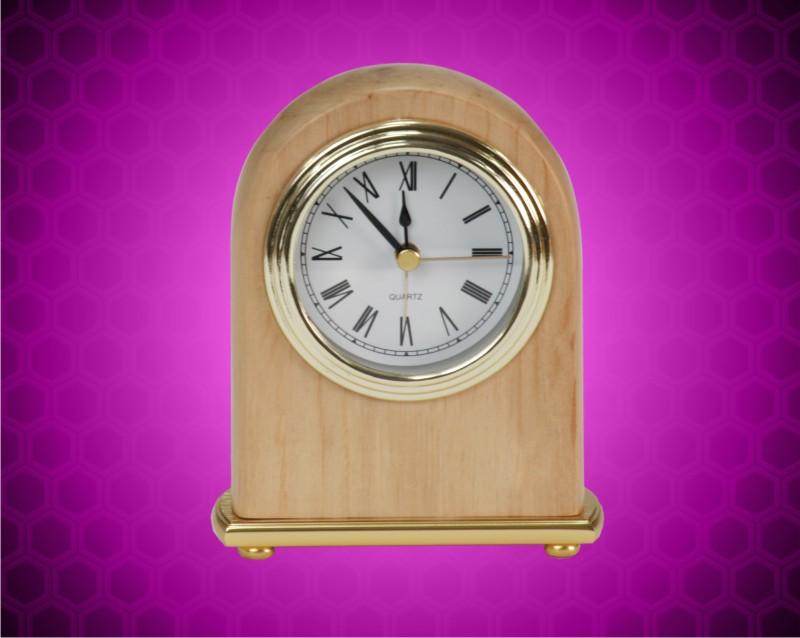 4 x 5 Red Alder Arch Desk Clock
