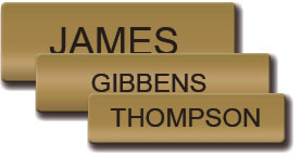 Satin Gold Uniform Name Tag