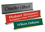 Metal Desk Name Plates