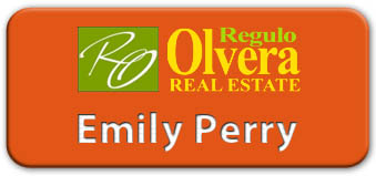 Screen Printed Smooth Plastic Name Tag: Tangerine and White - LM 922-612
