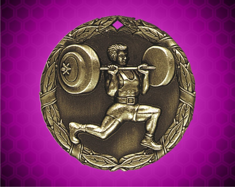 2 inch Gold Weightlifter XR Medal