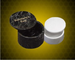 Round Marble Desk Box Paperweights