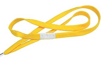 Yellow Flat Woven Break-Away Lanyard