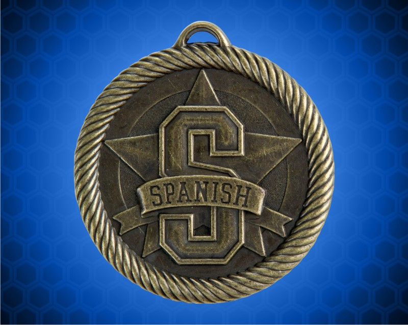 2 inch Gold Spanish Value Medal
