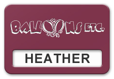Reusable Smooth Plastic Windowed Name Tag: Claret with White - LM922-612