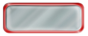 Blank Shiny Silver Nametag with a Shiny Red Metal Border