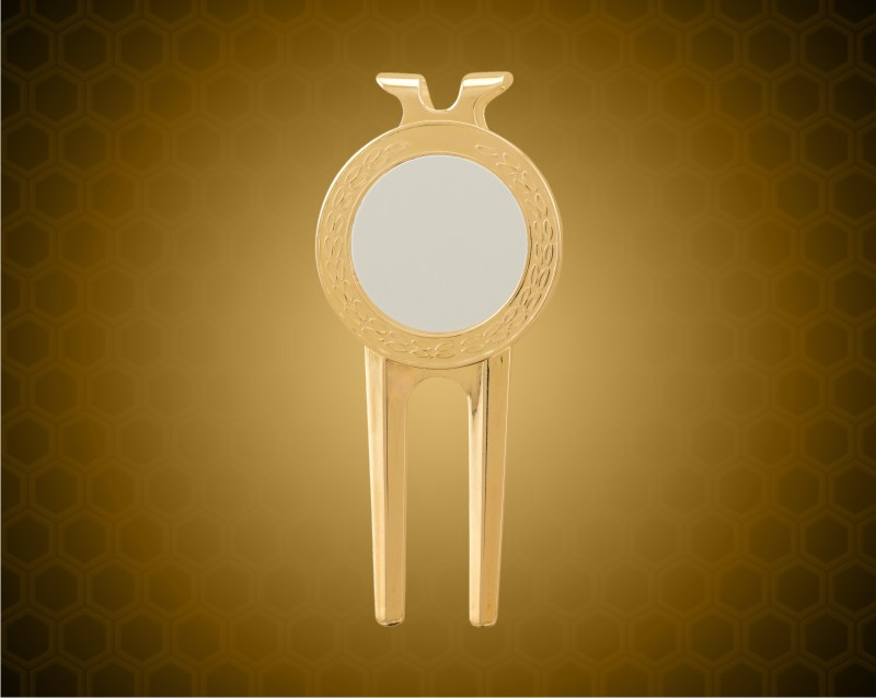 """1 1/2"""" x 3"""" Gold Divot Tool with Sublimatable Insert"""
