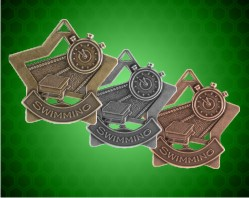 2 1/4 inch Swimming Star Medals