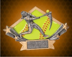 Softball Diamond Star Resin