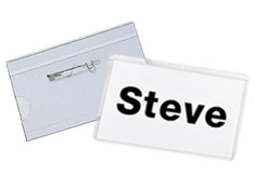 "Name Badge Holder with Pin 2.25"" x 3.5"""