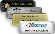 Metal Name Tags with Epoxy