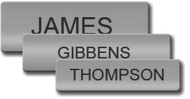 Chrome Plated Uniform Name Tag