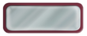 Blank Shiny Silver Nametag with a Burgundy Metal Border
