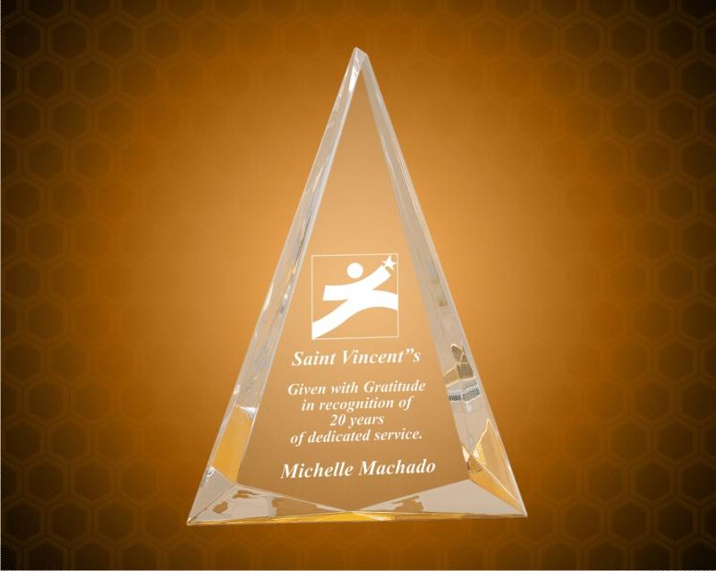 6 3/4 x 9 Inch Gold Pinnacle Acrylic Award