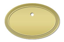 Gold Plastic Oval Name Tag Frames