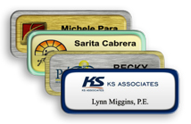 Metal Name Tags with Border