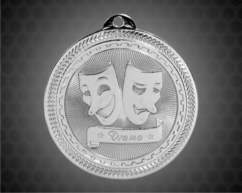 2 inch Silver Drama Laserable BriteLazer Medal