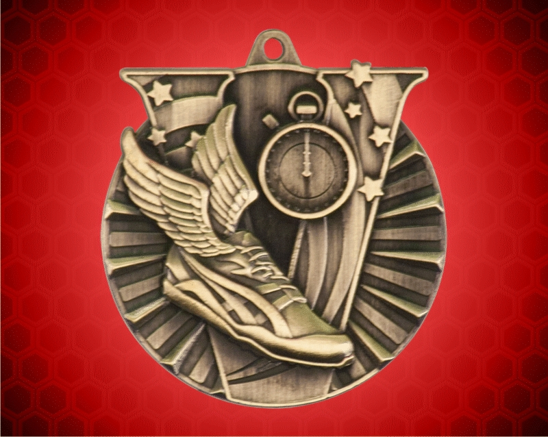2 Inch Gold track Victory Medal