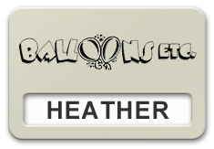Reusable Smooth Plastic Windowed Name Tag: Almond with Black - LM922-854