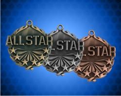 1 3/4 inch All Star Wreath Medal