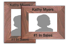 Personalized Walnut Picture Frame with Custom Engraving
