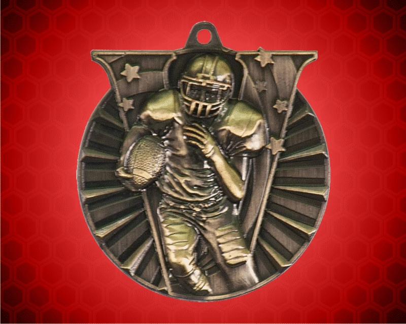 2 Inch Gold Football Victory Medal