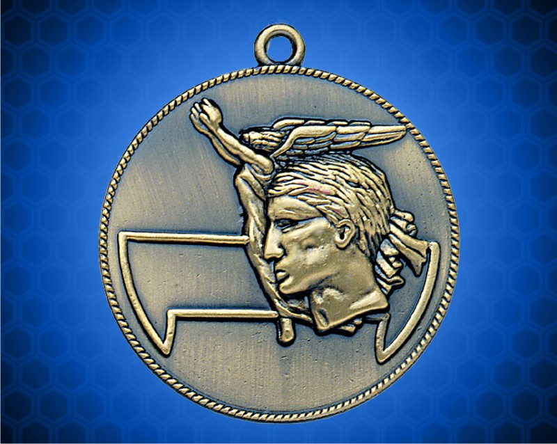1 1/2 inch Gold Achievement Die Cast Medal