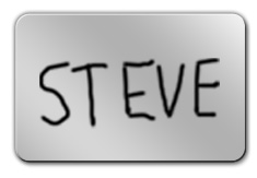 Shiny Silver Dry Erase Name Tag