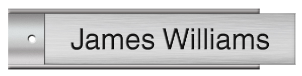 Brushed Aluminum Plastic Plate on Silver Wall Plate Holder