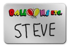 Shiny Silver Dry Erase Name Tag with Logo