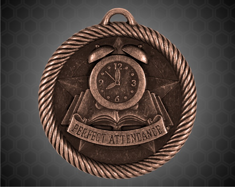 2 inch Bronze Perfect Attendance Value Medal