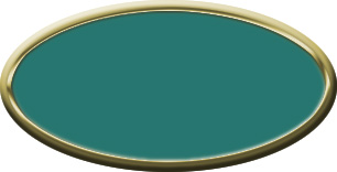 Blank Oval Plastic Gold Nametag with Celadon Green