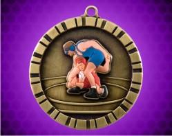 2 inch Wrestling 3-D Medal