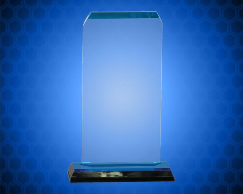 3 1/2 x 7 1/2 Blue Clip Corner Impress Acrylic
