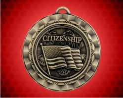 2 5/16 Inch Citizenship Spinner Medal