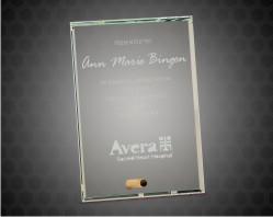 Clear Rectangle Crystal Edge Glass