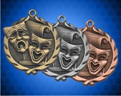 1 3/4 Inch Drama Wreath Medal