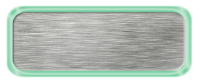 Blank Brushed Silver Nametag with a Shiny Green Metal Border