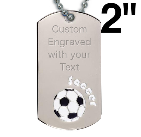 Victory Soccer Dog Tag