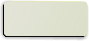 Blank Smooth Plastic Name Tag: Almond and Black - LM 922-854