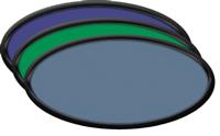 Black Blank Oval Plastic Nametag