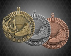 2 3/4 Inch Wrestling Star Medal