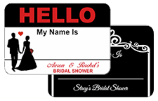 Hello My Name Is Bridal Stickers
