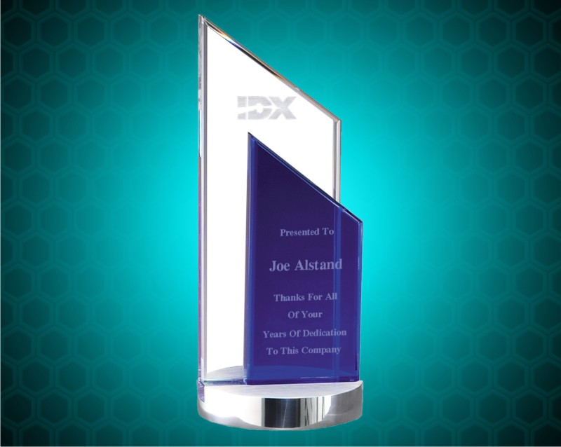 Crystal Blue Rectangle Award