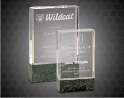 Fusion Crystal Award With Marble Base