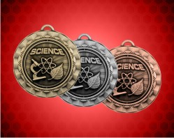2 5/16 Inch Science Spinner Medal
