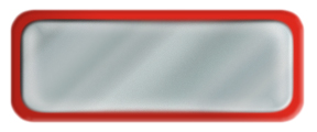 Shiny Silver Nametag with a Red Metal Border