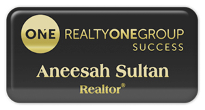 Realty One-Solutions: Metal Tag: Black with Gold - Epoxy and Magnet - 1 1/2 x 3