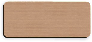 Blank Smooth Plastic Name Tag: Brushed Copper and Black - LM 922-894