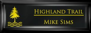 Framed Name Tag: Black Plastic (squared corners) - Black and Yellow Plastic Insert with Epoxy